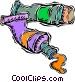 tubes of paint Vector Clip Art picture