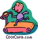 person running on a treadmill Vector Clipart graphic