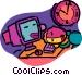 computer Vector Clip Art image