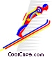 ski jumping Vector Clip Art graphic