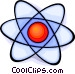 atomic symbol Vector Clipart picture