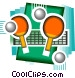 table tennis Vector Clipart illustration