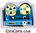 tape recorder Vector Clipart picture