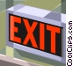 exit sign Vector Clipart graphic
