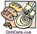 making bread Vector Clipart picture