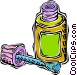 glue bottle Vector Clip Art picture