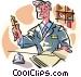 hotel desk clerk Vector Clipart picture