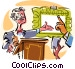 auctioneer Vector Clipart illustration