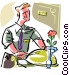 room service Vector Clipart picture