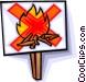 no campfires allowed Vector Clipart image