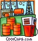 petroleum and gas refining Vector Clipart image