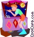 boy shooting cork gun at Vector Clipart image