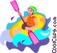 white water rafting Vector Clip Art picture