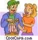 Couple dating Vector Clip Art picture