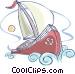 Sailboat Vector Clipart illustration