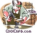 Shoemaker, shoe repairs Vector Clip Art graphic