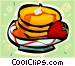 pancakes with strawberries Vector Clipart picture