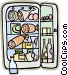 refrigerator fully stocked Vector Clipart image