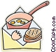 fried eggs Vector Clip Art picture