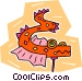 Chinese dragon Vector Clipart picture