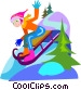 tobogganing Vector Clipart picture