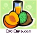 Fruits and juice Vector Clip Art picture
