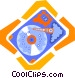computer hard disk Vector Clipart image