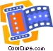 roll of film Vector Clipart illustration