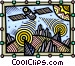 Global telecommunications Vector Clipart image