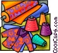 Fabrics and garments Vector Clip Art graphic