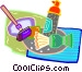 shaving items Vector Clipart image