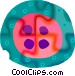 button Vector Clipart graphic