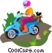 scooter Vector Clipart illustration