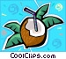 coconut Vector Clipart image