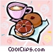 coffee and donuts Vector Clipart illustration