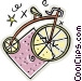 penny bicycles Vector Clip Art graphic