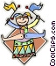 Court Jester Vector Clipart illustration