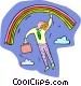 rainbows Vector Clipart illustration