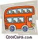 double-decker bus Vector Clip Art image