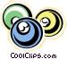 billiard balls Vector Clip Art image