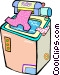 clothes washer Vector Clip Art picture