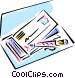 writing a check Vector Clip Art picture