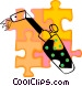 torch Vector Clipart graphic