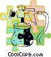 paint sprayer Vector Clipart graphic