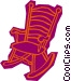 rocking chair Vector Clip Art picture
