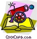 cannon with book Vector Clipart graphic