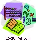 abacus with work book Vector Clipart picture