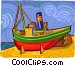 tug boat Vector Clipart graphic
