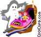 haunted house ride Vector Clipart illustration