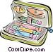 pencil case Vector Clipart graphic